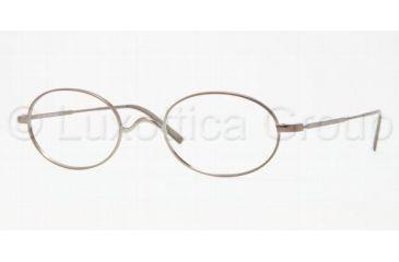 Brooks Brothers BB1001 Progressive Prescription Eyeglasses 1553-5022 - Light Brown Frame, Demo Lens Lenses