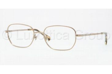 Brooks Brothers BB1005 Eyeglass Frames 1551-5317 - Light Brown Frame, Demo Lens Lenses
