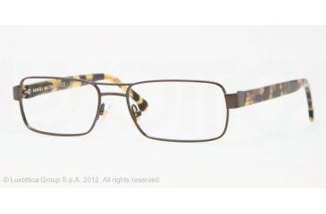 Brooks Brothers BB1011 BB1011 Progressive Prescription Eyeglasses 1544-53 - Dark Brown Frame, Demo Lens Lenses