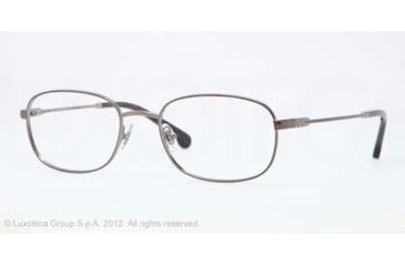 Brooks Brothers BB1014 BB1014 Eyeglass Frames 1567-50 - Gunmetal Frame, Demo Lens Lenses