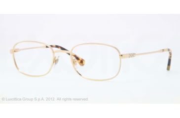 Brooks Brothers BB1014 BB1014 Eyeglass Frames 1581-50 - Gold Frame, Demo Lens Lenses