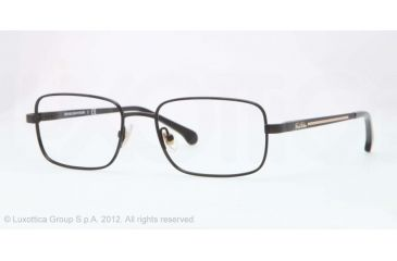 Brooks Brothers BB1019 Single Vision Prescription Eyeglasses 1536-51 - Black Frame, Demo Lens Lenses