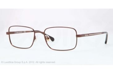 Brooks Brothers BB1019 Single Vision Prescription Eyeglasses 1571-51 - Bronze Frame, Demo Lens Lenses