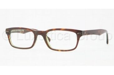 Brooks Brothers BB2003 Single Vision Prescription Eyeglasses 6044-5120 - Green Tortoise Frame, Demo Lens Lenses
