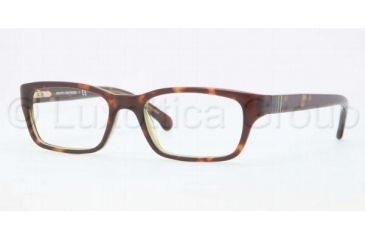 Brooks Brothers BB2007 BB2007 Single Vision Prescription Eyeglasses 6044-4616 - Green Tortoise Frame, Demo Lens Lenses
