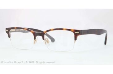 Brooks Brothers BB2014 Bifocal Prescription Eyeglasses 6001-50 - Dark Tortoise Frame, Demo Lens Lenses