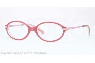 Brooks Brothers BB2016 Single Vision Prescription Eyeglasses 6068-47 - Dark Oink/transluscent Pink Frame