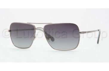 Brooks Brothers BB4002S Sunglasses 1507T3-5716 - Gunmetal Frame, Polarized Gray Gradient Lenses