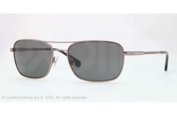 Brooks Brothers BB4016 Sunglasses 150787-56 - Gunmetal Frame, Grey Solid Lenses