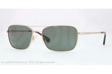 Brooks Brothers BB4016 Sunglasses 152671-56 - Gold Frame, Green Solid Lenses