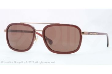 Brooks Brothers BB4017 Single Vision Prescription Sunglasses BB4017-153373-56 - Lens Diameter 56 mm, Frame Color Copper/burgundy
