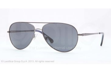 Brooks Brothers BB4020 Sunglasses 156787-58 - Gunmetal Frame, Grey Solid Lenses