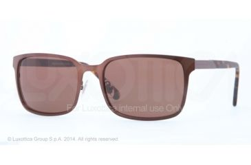 Brooks Brothers BB4022 Sunglasses 164373-57 - Satin Brown Frame, Brown Solid Lenses