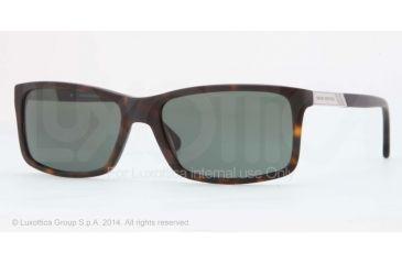 Brooks Brothers BB5014 Sunglasses 606571-57 - Matte Tortoise Frame, Green Solid Lenses