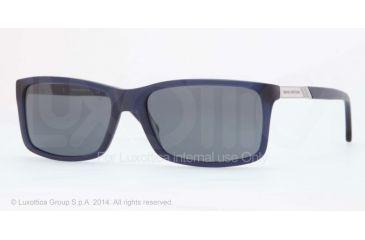 Brooks Brothers BB5014 Sunglasses 607187-57 - Matte Blue Frame, Grey Solid Lenses