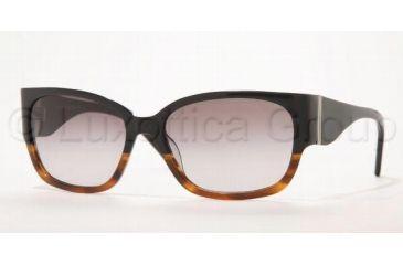 Brooks Brothers BB702S Sunglasses, Black/Tortoise Frame, Fade Gray Gradient Lenses, 55mm Lens Diameter