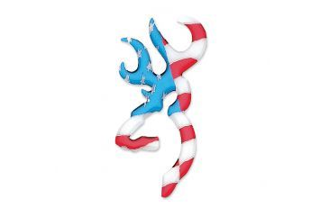 Browning 3 D Buckmark Decal Red White Blue
