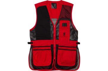 1-Browning Bg Mesh Shooting Vest R-hand 3x-large Black/red Trim