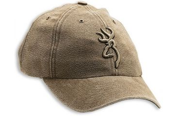 Browning Washed Microsuede Cap with 3-D Buckmark Tan 308312681