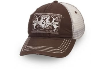 Browning Crop Duster Cap, Mesh Back Brown, Adult cap adjustable fit 308233881