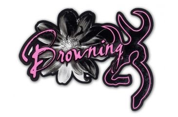 Browning Daisy Buckmark Black Pink Decal