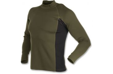 Browning Full Curl Wool Base Layer Shirt, Loden, L 3011992903