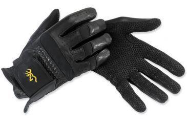 Browning Leather Tac-Pro Gloves, Black, M 3070129002
