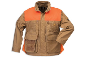 Browning Pheasants Forever Zip-Off Sleeve Jacket, Field Tan, Logo Embroidery, M 3041163202