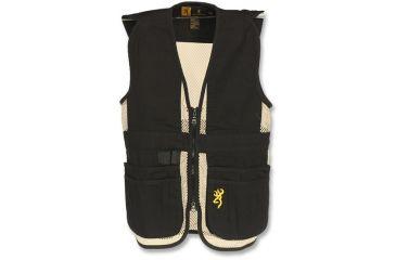 Browning Junior Trapper Creek Mesh Shooting Vest, Black/Tan, 2XL 3050548905