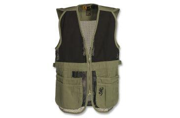 Browning Junior Trapper Creek Mesh Shooting Vest, Sage/Black, L 3050545403