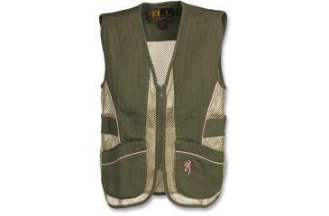 Browning Junior Trapper Creek Mesh Shooting Vest, Sage/Pink, 2X 3050544405
