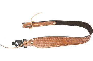 1-Browning Leather Basket Weave Sling, Antique 1225098