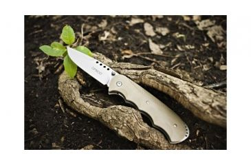 Browning OPMOD Folder Knife Limited Edition - Drop Point Blade, Sand 322658