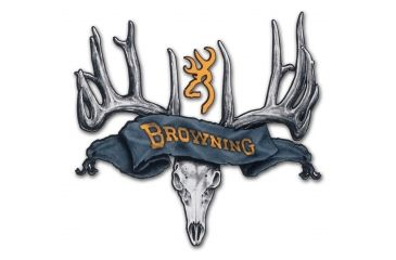 Browning Rogue Rack Skull Black Gold Decal