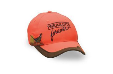 Browning Safety Pheasants Forever Embroidery Cap, Blaze, Adult cap adjustable fit 308126011