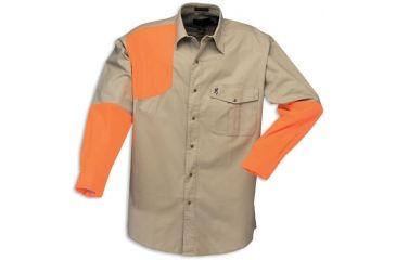 Browning Prairielands Canvas Overlay Shirt, Khaki/Blaze
