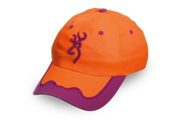 Browning Womens ISSI Cap, Blaze/Magenta, Adult cap adjustable fit 308135011
