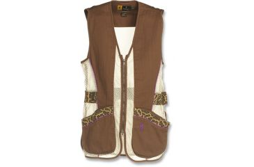 Browning Womens Sahara Shooting Vest, Brown/Leopard, 2XL 3050683805