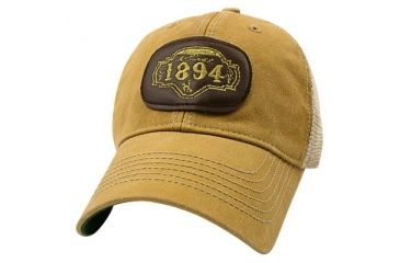 Brunton Yellow Trucker Hat With 1894 Leather Patch Hat1894