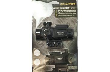 BSA Optics 35mm Tactical Weapon Red & Green Dot, 5 MOA Dot, Black, 35mm TW35RDGDCP
