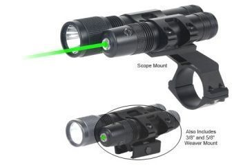 BSA Optics Stealth Tactical Green Laser Sight and Flashlight