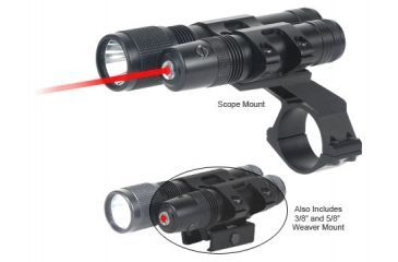 BSA Optics Stealth Tactical Red Laser Sight and Flashlight