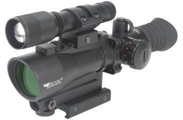 BSA Tactical Weapon Series - 30mm Red Dot w/650nm Red Laser & LED Flashlight TW30RDLL