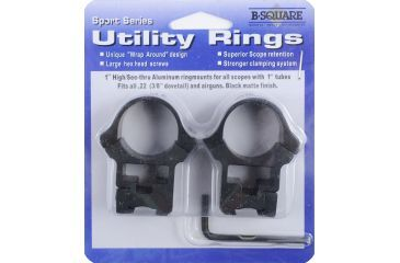 B-Square Sports Utility Weaver Aluminum Rings, High, Black 1008659