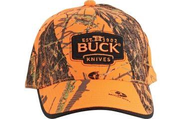 Buck Knives Baseball Cap, Mossy Oak Blaze Orange BU89054