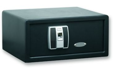 Bulldog Cases 14x10.1x7.9 Pistol Vault w/ Digital Biometric Fingerprint Automatic Lock- Black BD3000