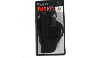 Bulldog Cases Belt And Clip Ambi Holster w/ Color Header Card Packaging for Most Standard Autos w/ 2 - 4'' Barrels (Glock 17,19) FSN-7