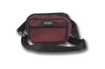 Bulldog Fanny Pack Holster - Burgundy with Black Trim, Medium BD865