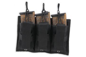 Bulldog Cases Colt Tri-Double Molle mag pouch- black, holds 3 MSR mags + 3 pistol mags CLT-62
