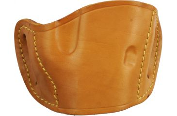 Bulldog Cases Molded Leather Belt Slide Holster - Medium, Tan MLT-M